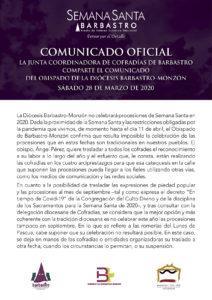 Comunicado del obispo de la Diócesis Barbastro-Monzón