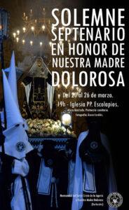 Cartel Solemne Septenario en honor de Nuestra Madre Dolorosa 2021